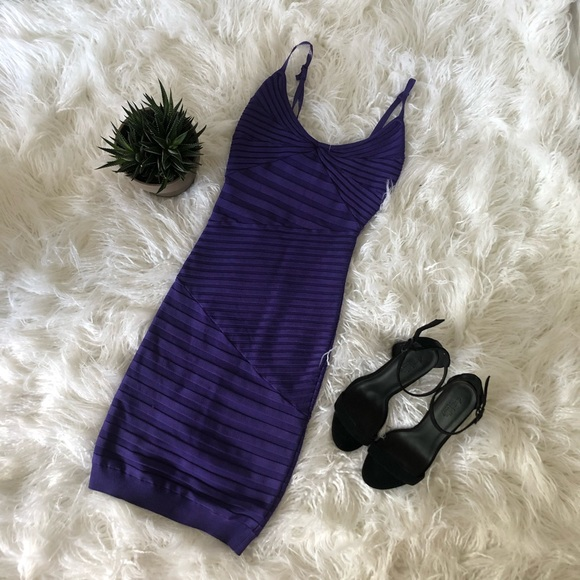 Guess by Marciano Dresses & Skirts - Guess by Marciano, Purple, bandage dress, XS.